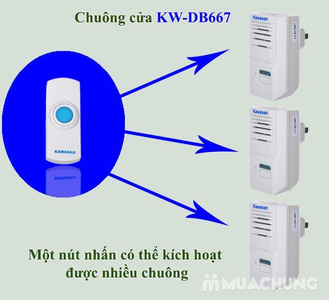 Chuông cửa không dây lắp ngoài trời KW- DB667 - 7
