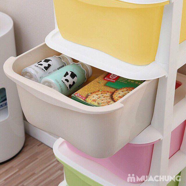 Tủ nhựa 5 tầng ngăn kéo đựng đồ đa năng có bánh xe - 5