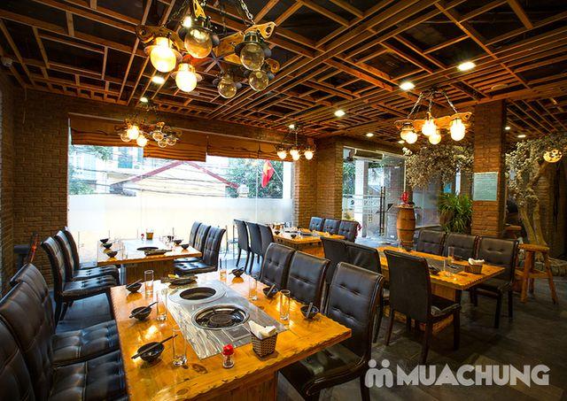 Buffet lẩu hải hải bò Mỹ & sushi Nhà hàng Moon BBQ - 2