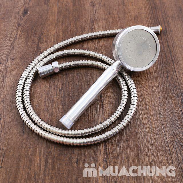 Bộ vòi sen tăng áp có hạt lọc kèm dây dãn 1.5m - 12