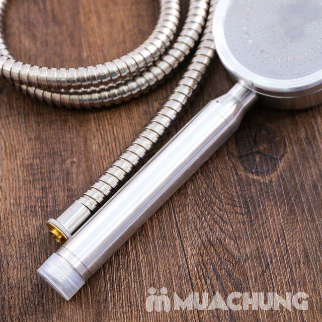 Bộ vòi sen tăng áp có hạt lọc kèm dây dãn 1.5m - 9