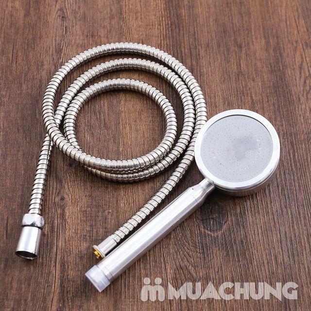 Bộ vòi sen tăng áp có hạt lọc kèm dây dãn 1.5m - 7