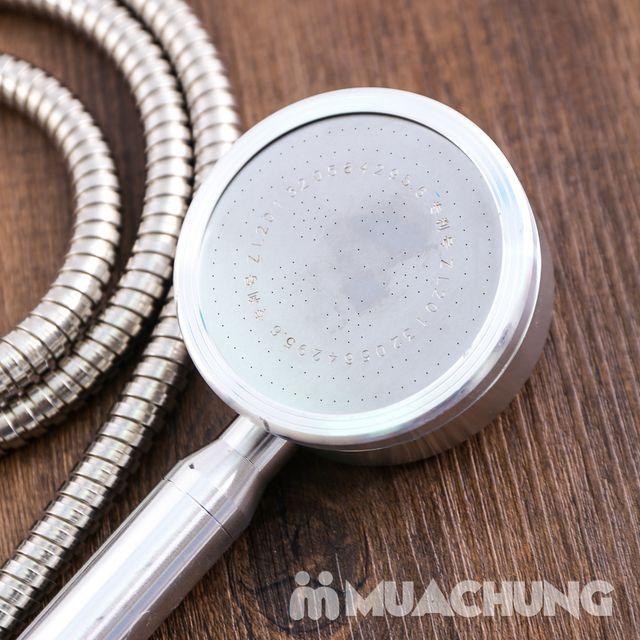 Bộ vòi sen tăng áp có hạt lọc kèm dây dãn 1.5m - 8