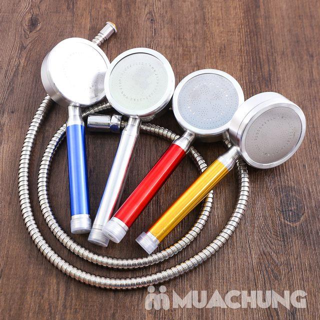 Bộ vòi sen tăng áp có hạt lọc kèm dây dãn 1.5m - 6