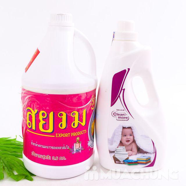 Nước giặt xả 5 trong 1 hương hoa - Tặng nước xả - 2