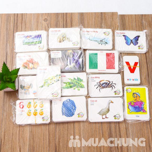 Bộ thẻ học song ngữ Anh- Việt 16 chủ đề và 416 thẻ - 9