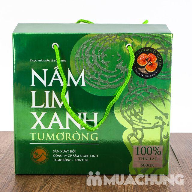 Hộp 500gr nấm lim xanh 100% thái lát tự nhiên - 4