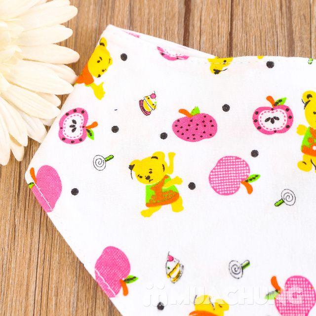 10 khăn yếm cotton có cúc bấm cho bé - 4