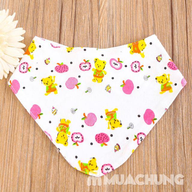 10 khăn yếm cotton có cúc bấm cho bé - 1