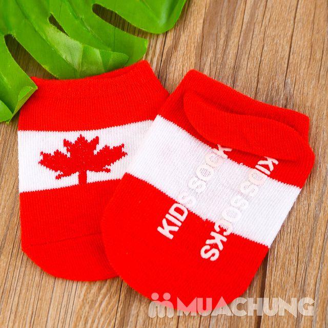08 đôi tất họa tiết lá cờ, chống trượt cho bé yêu - 11