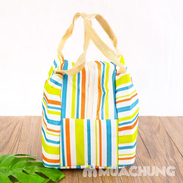 Túi giữ nhiệt đựng thức ăn họa tiết kẻ trẻ trung - 6
