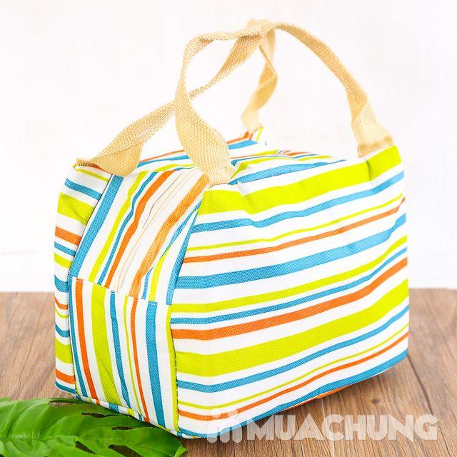 Túi giữ nhiệt đựng thức ăn họa tiết kẻ trẻ trung - 5