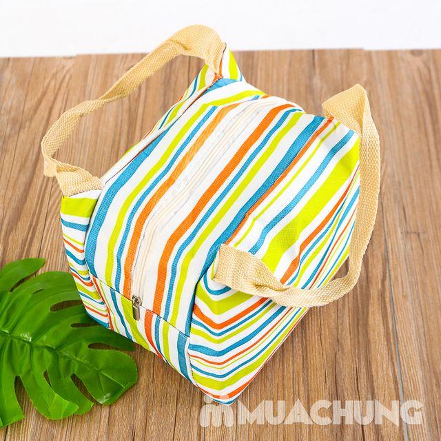 Túi giữ nhiệt đựng thức ăn họa tiết kẻ trẻ trung - 3