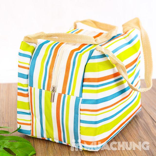 Túi giữ nhiệt đựng thức ăn họa tiết kẻ trẻ trung - 7