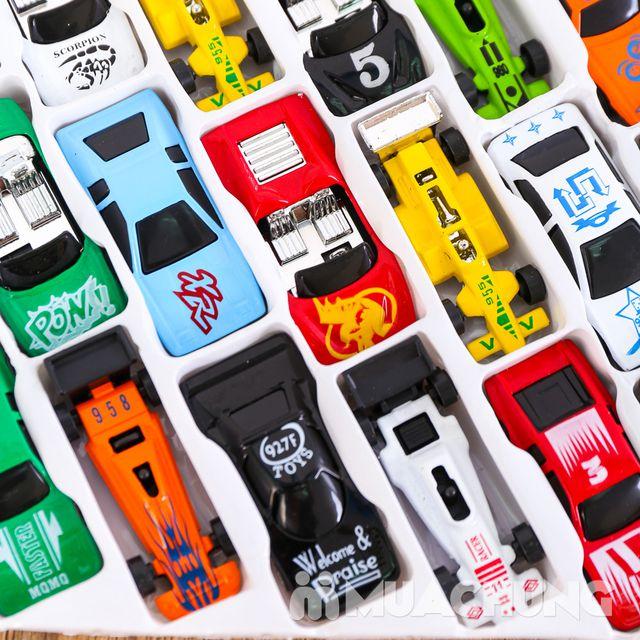 Vỉ 50 ô tô nhiều màu - Bộ sưu tập xe của bé - 9