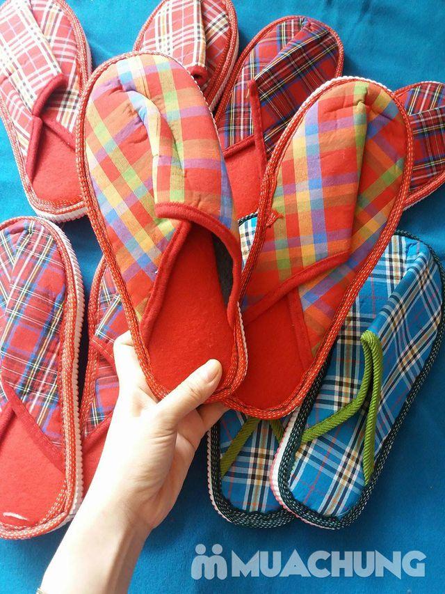 5 đôi dép bông kẻ đi trong nhà - 5
