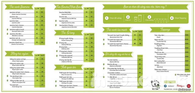 Voucher giảm giá toàn menu Trà sữa Lu's Tea  - 2