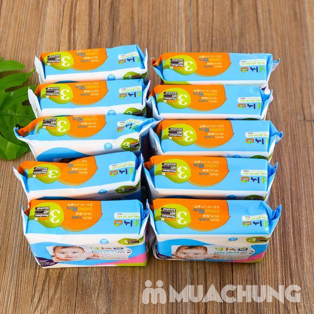 10 gói giấy ướt trẻ em 30 tờ YKO công nghệ Nhật - 13