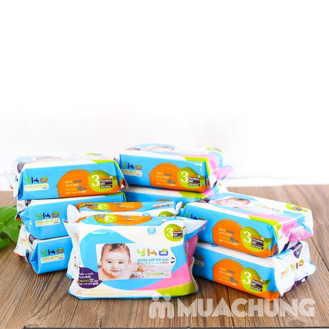 10 gói giấy ướt trẻ em 30 tờ YKO công nghệ Nhật - 15