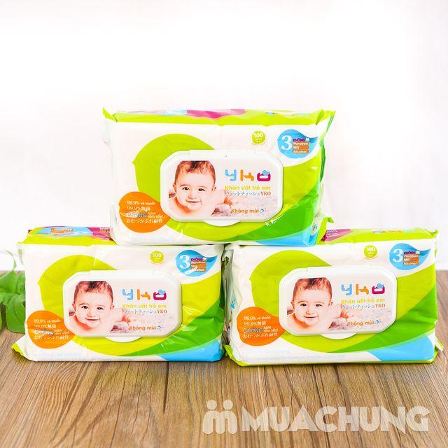 06 gói giấy ướt trẻ em 100 tờ YKO công nghệ Nhật - 6