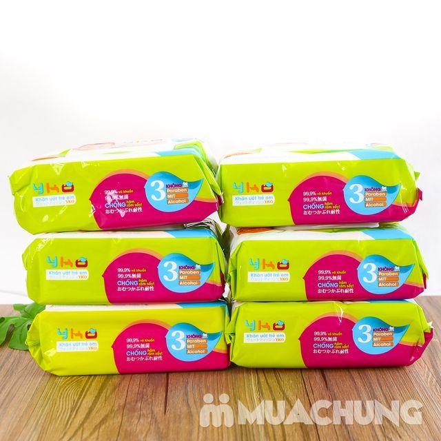 06 gói giấy ướt trẻ em 100 tờ YKO công nghệ Nhật - 12