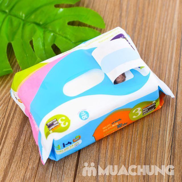 10 gói giấy ướt trẻ em 30 tờ YKO công nghệ Nhật - 11
