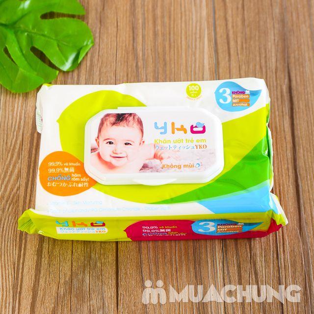 06 gói giấy ướt trẻ em 100 tờ YKO công nghệ Nhật - 7