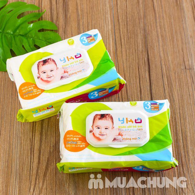 06 gói giấy ướt trẻ em 100 tờ YKO công nghệ Nhật - 10