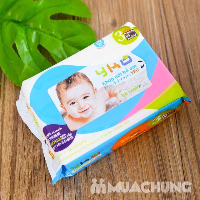 10 gói giấy ướt trẻ em 30 tờ YKO công nghệ Nhật - 8