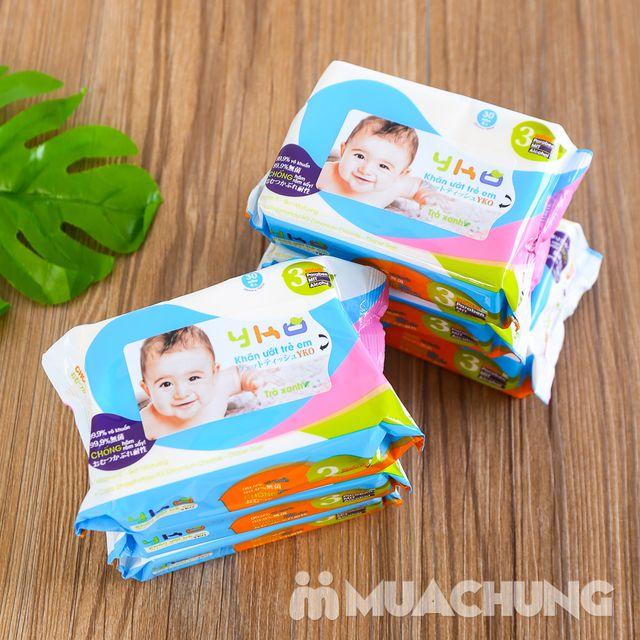 10 gói giấy ướt trẻ em 30 tờ YKO công nghệ Nhật - 12