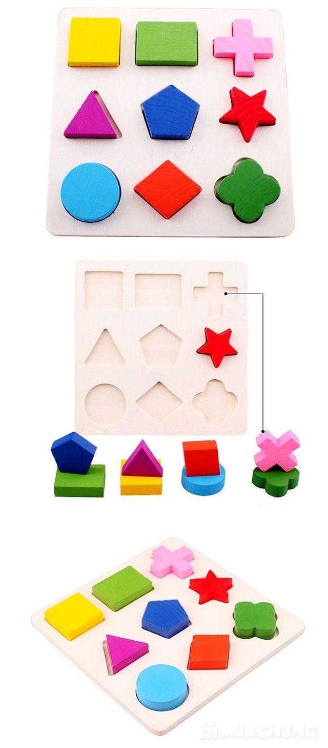 Combo 3 bảng gỗ ghép hình học - Phát triển tư duy - 4