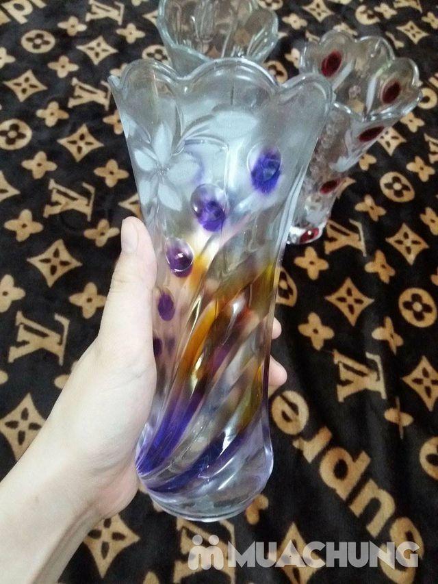 Lọ hoa loe trắng/ màu 20cm - 3