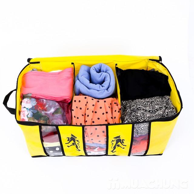 Dọn nhà đón hè với set 2 túi vải loại 3 ngăn lớn - ngăn bụi bẩn, chứa nhiều đồ - giảm giá cực sốc duy nhất chỉ có tại MuaChung - 10