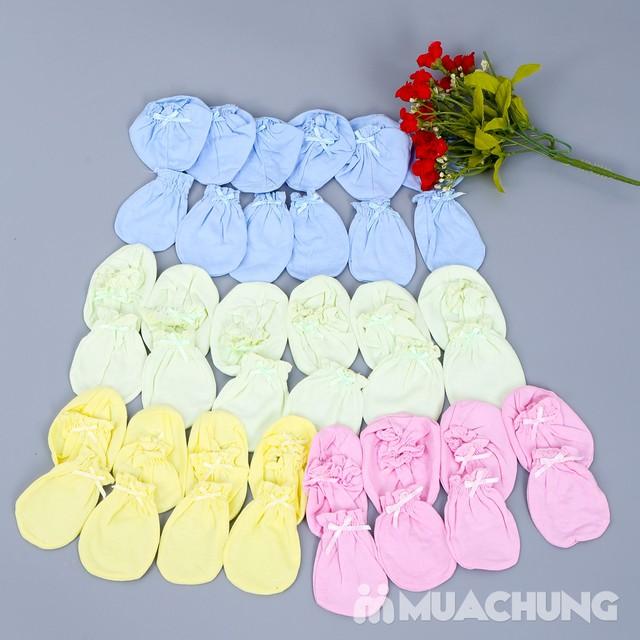 Combo 10 bộ bao tay, chân cho bé sơ sinh chất cotton mềm mại với giá chỉ 70.000đ - 1