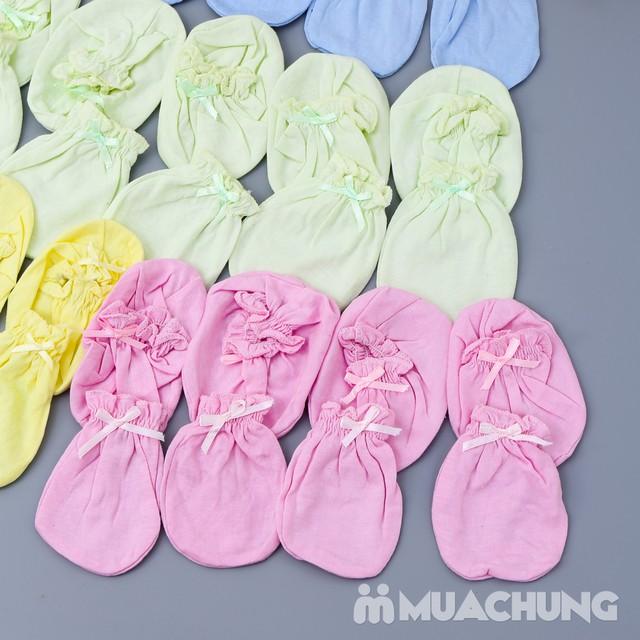 Combo 10 bộ bao tay, chân cho bé sơ sinh chất cotton mềm mại với giá chỉ 70.000đ - 3
