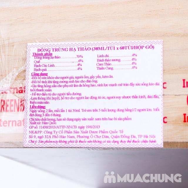 Đông trùng hạ thảo hộp gỗ nhập khẩu Hàn Quốc - giảm giá cực sốc duy nhất chỉ có tại MuaChung - 8
