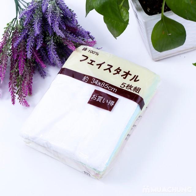 5 khăn mặt bông thể thao xuất Nhật - 5