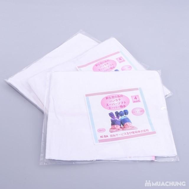 3 khăn tắm sơ sinh 4 lớp siêu mềm - 1
