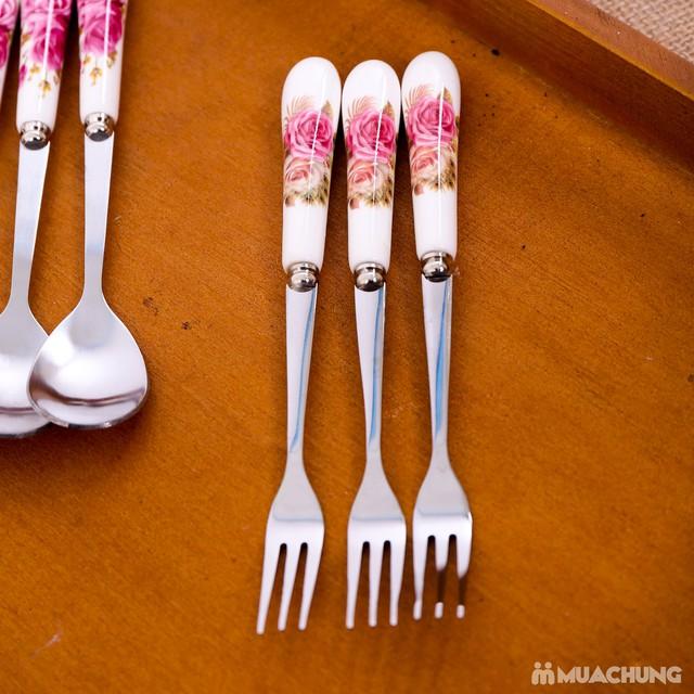 Bộ thìa, dĩa, đũa sứ 9 món đẹp mắt - 8