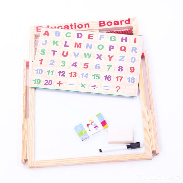 Bảng 2 mặt đa năng, thực hiện phép tính và chữ cái - 10