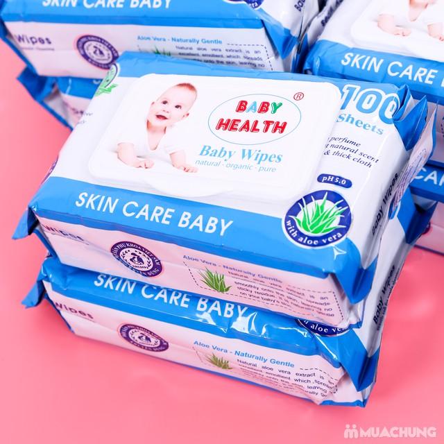 10 gói khăn ướt Baby Health chiết xuất lô hội - 9
