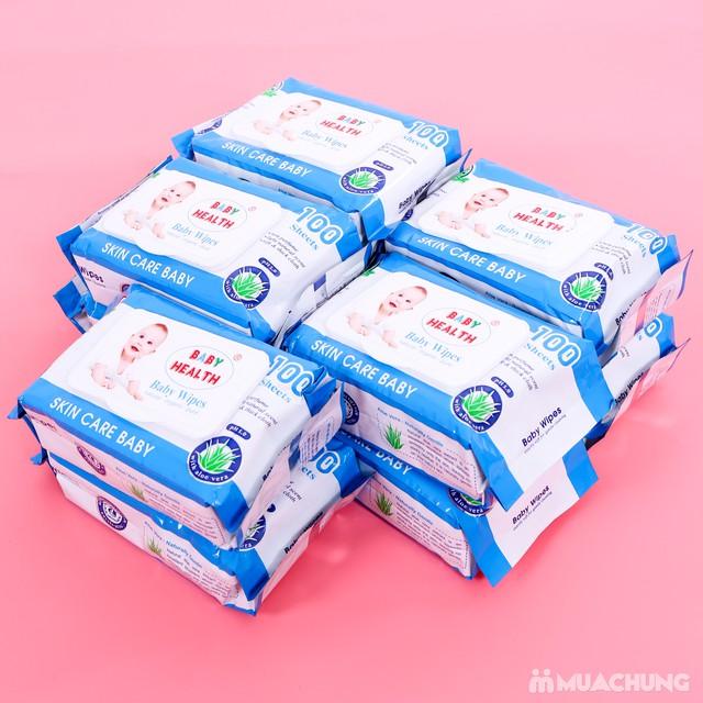 10 gói khăn ướt Baby Health chiết xuất lô hội - 6