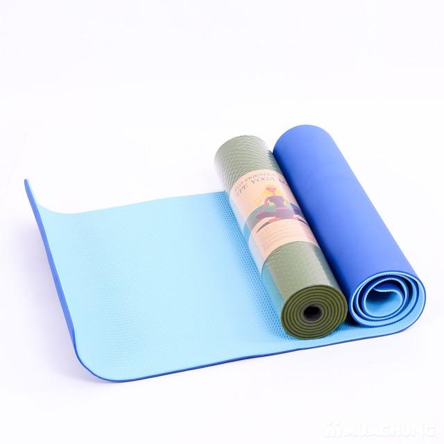 Thảm tập yoga TPE 2 lớp siêu bền, siêu nhẹ - 1