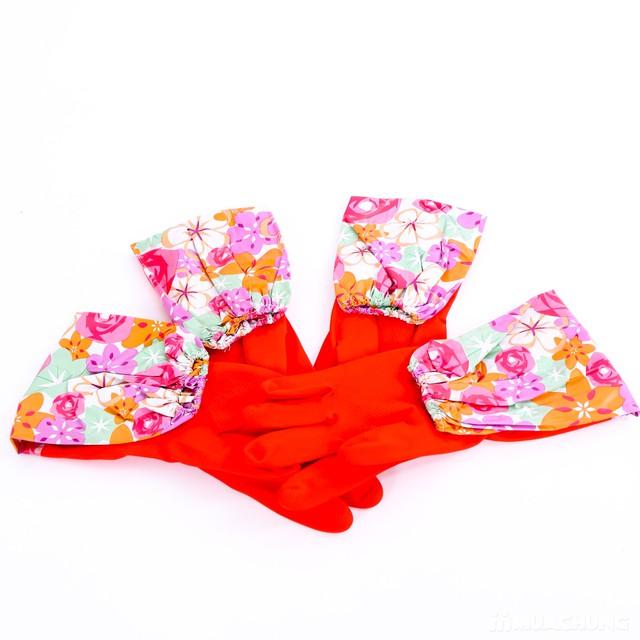 2 đôi găng tay cao su lót nỉ cho mùa lạnh - 5