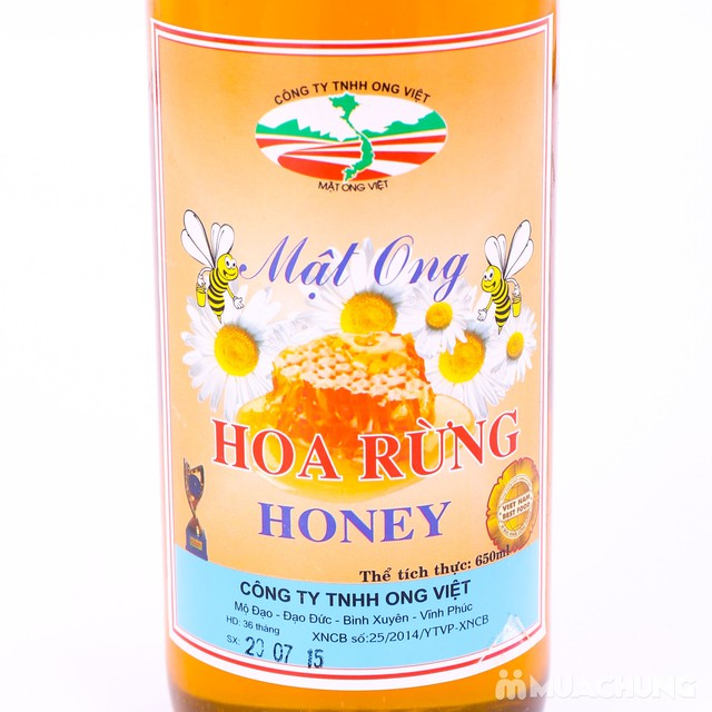 Mật ong hoa rừng thơm ngon - Ong Việt 650 ml - 5