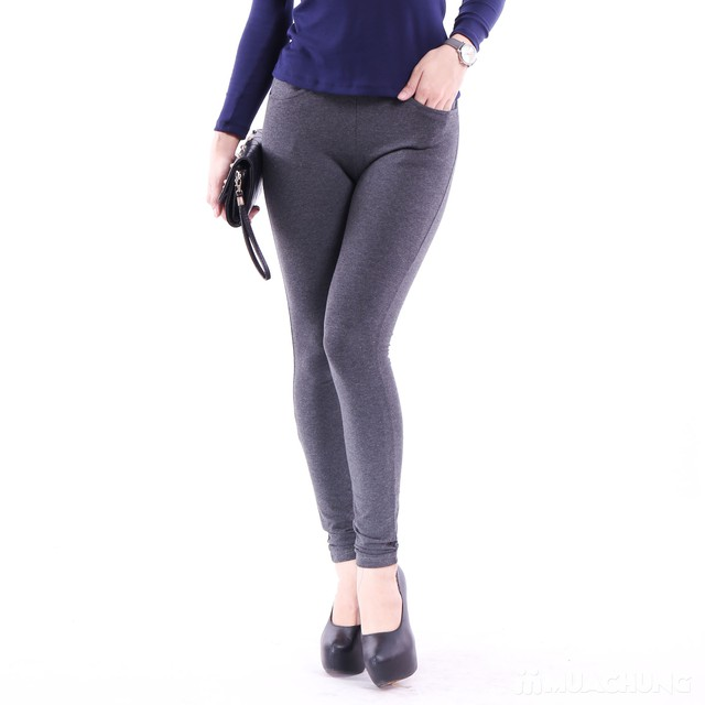 2 quần legging 100% cotton đẹp, mịn cho bạn gái  - 11