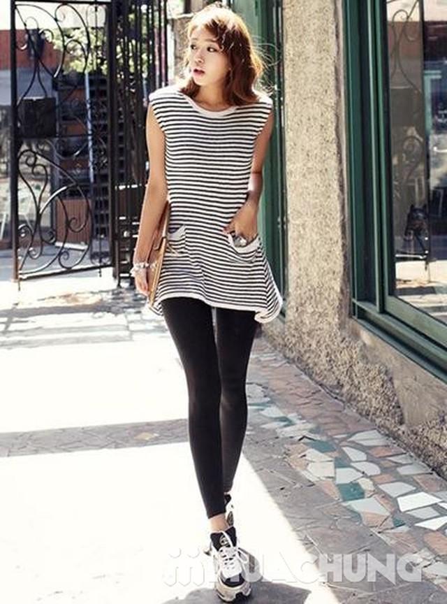 2 quần legging 100% cotton đẹp, mịn cho bạn gái - 3