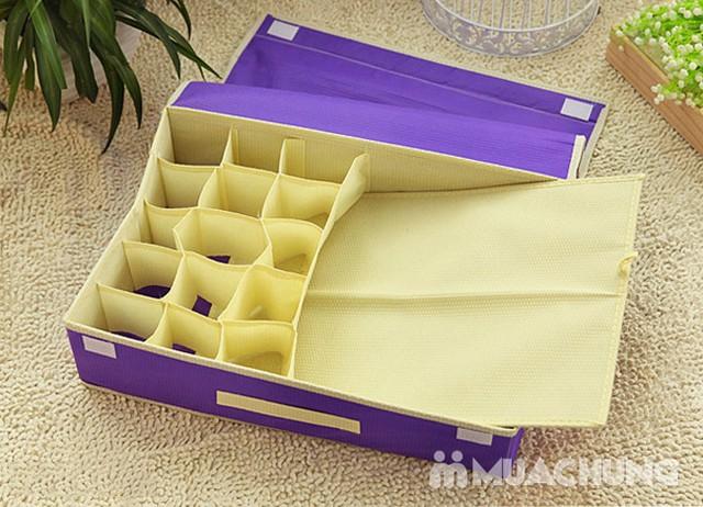 Hộp đựng đồ lót 16 ngăn có nắp kín đáo, tiện dụng, bảo quản tốt hơn các loại đồ đạc bên trong - 1