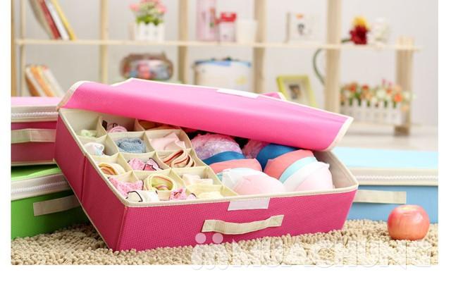 Hộp đựng đồ lót 16 ngăn có nắp kín đáo, tiện dụng, bảo quản tốt hơn các loại đồ đạc bên trong - 2