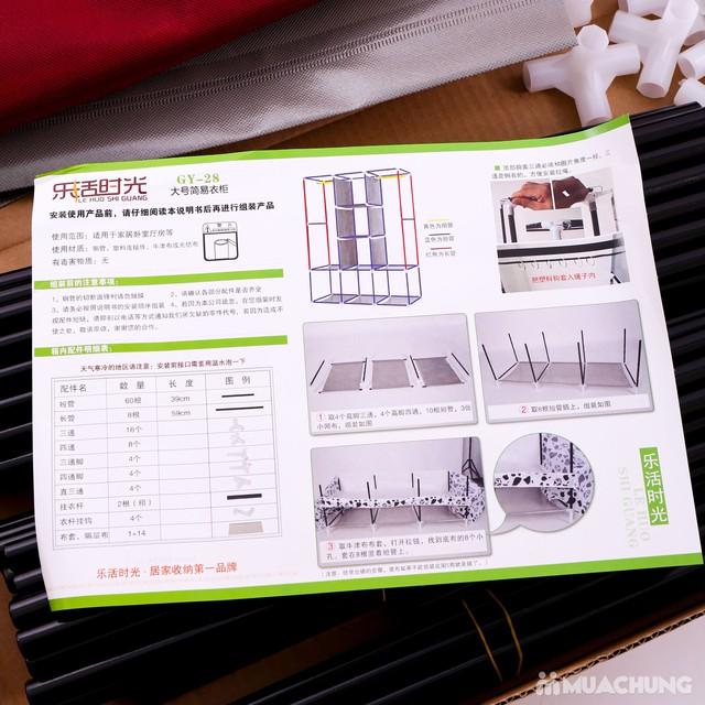 Tủ vải 3 tầng 8 ngăn khóa kéo 2 bên tiện dụng - 6